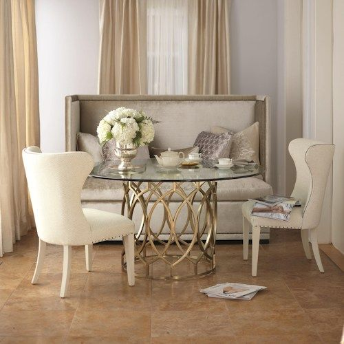 Dining Set With Round Gl Top Table
