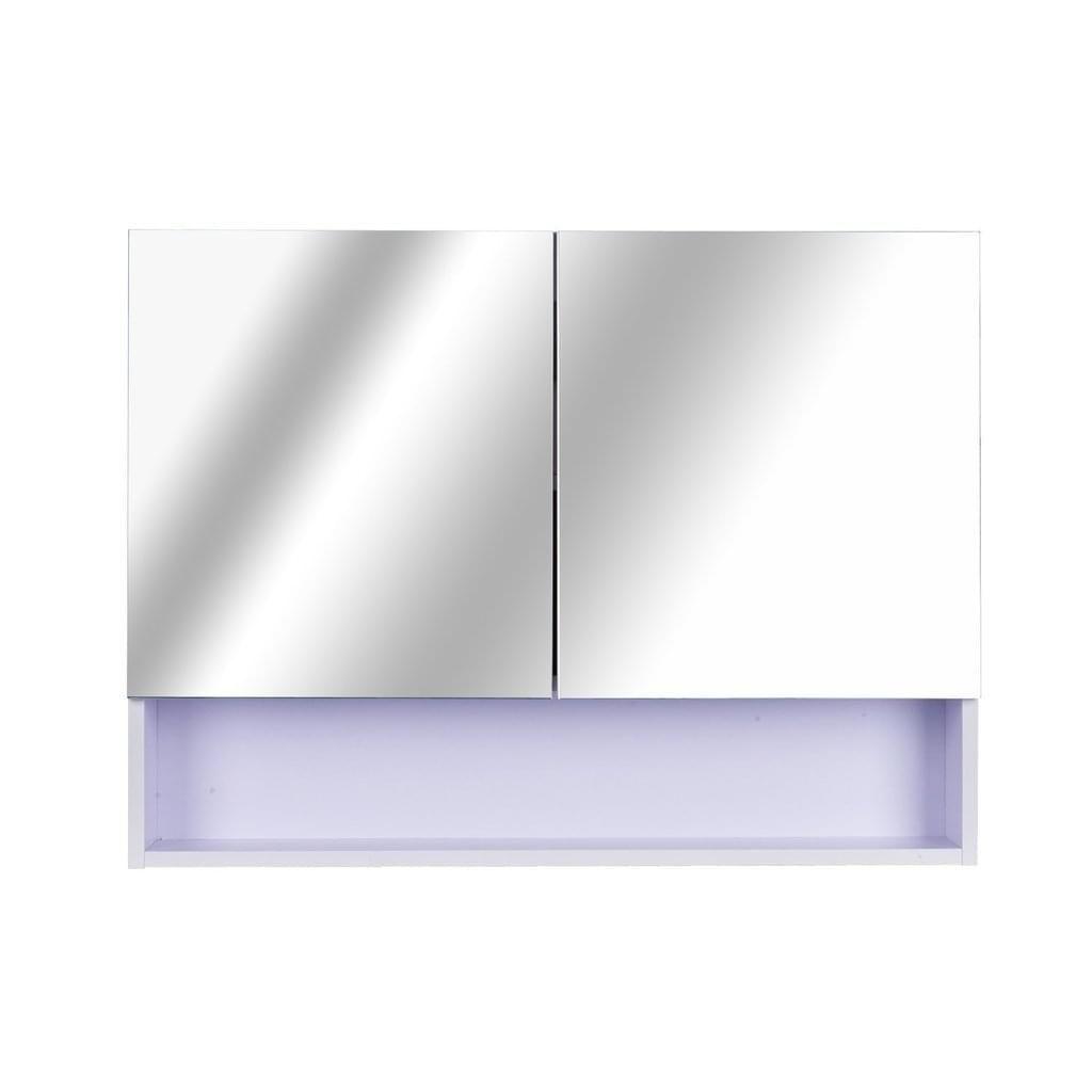 Homcom Led Wandspiegelschrank Weiss 80 X 50 X 15 Cm Lxbxh
