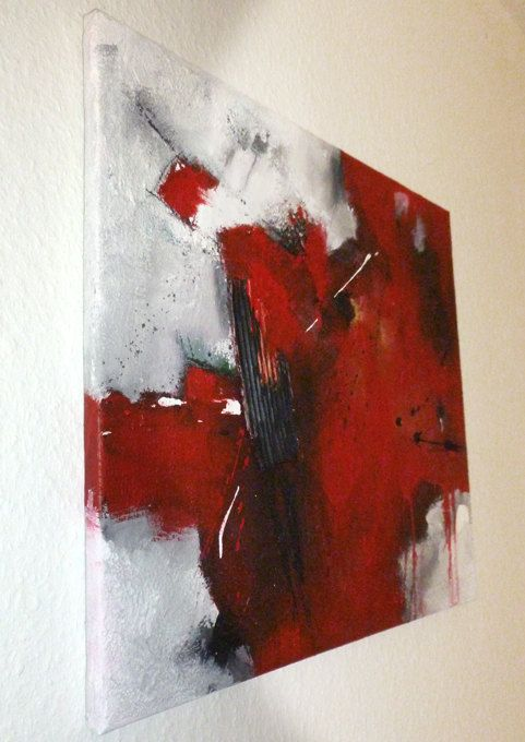 Original abstract acrylic textured painting modern art for Textured acrylic abstract paintings