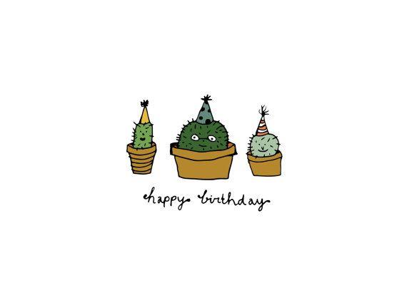 Cactus Birthday Card Google Search Birthday Pinterest Cards