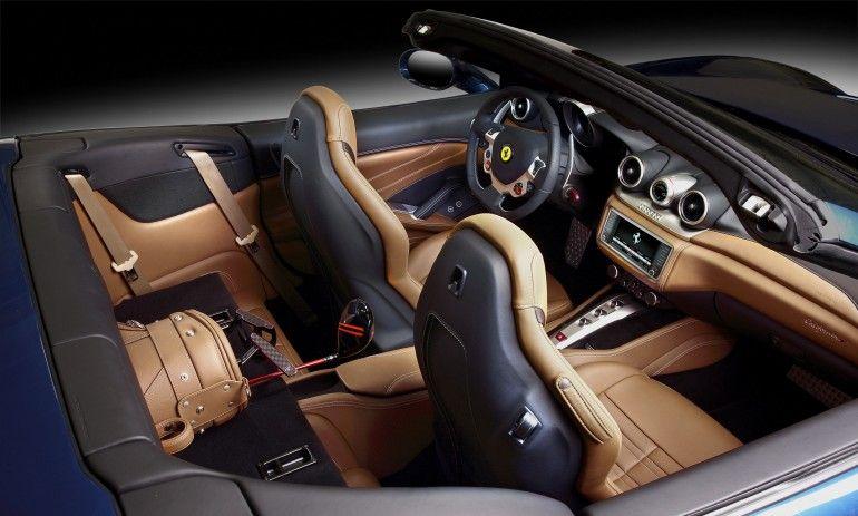 The Ferrari California T interior
