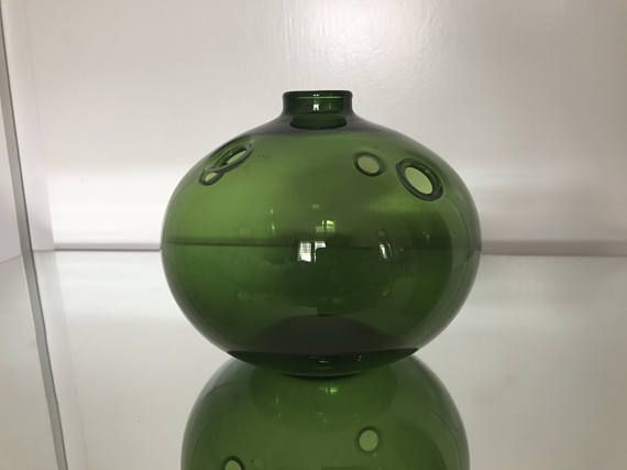 Holmegaard Vase 1960s Designed By Michael Bang Pinterest Bangs