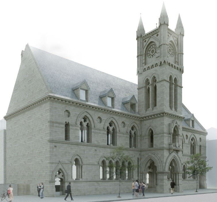 Dumbarton will retain facade of Alisted Burgh Hall (With