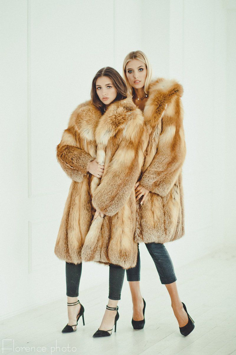 e984da7a Red fox fur long coat Fur jacket for women Fox winter coat Red Fur, Coats
