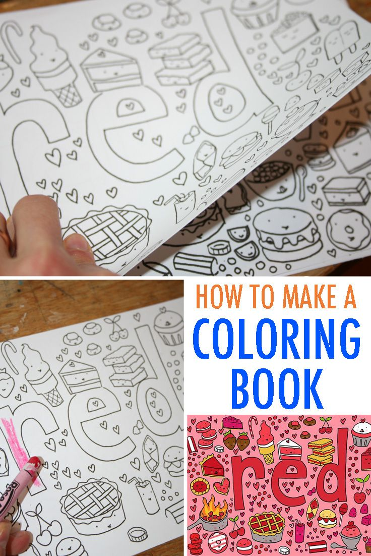 You Can Make Your Own Coloring Book With This Easy Tutorial Diy