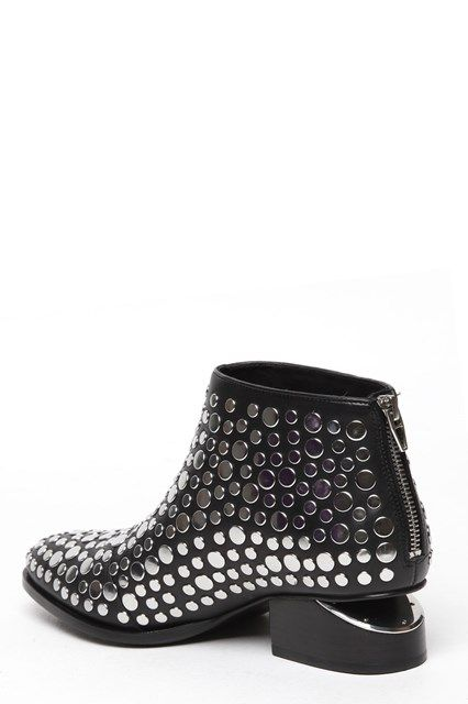 ALEXANDER WANG Ankle boot 'Kori' in pelle con borchie