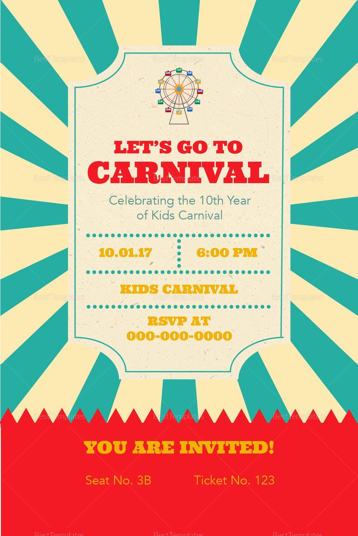 Carnival Ticket Invitation Template from i.pinimg.com