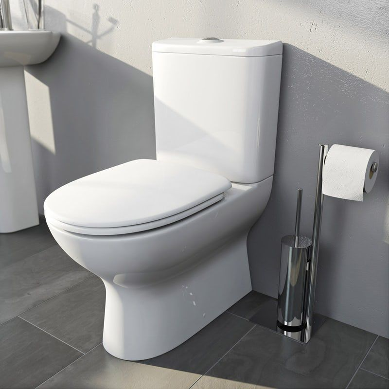 Mode Heath Close Coupled Toilet With Soft Close Toilet Seat In 2020 Close Coupled Toilets White Toilet Seats New Toilet
