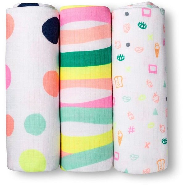 Swaddle Blankets Target Amazing Oh Joy® 3Pk Muslin Swaddle Blanket  Dots  Target ❤ Liked On Decorating Inspiration