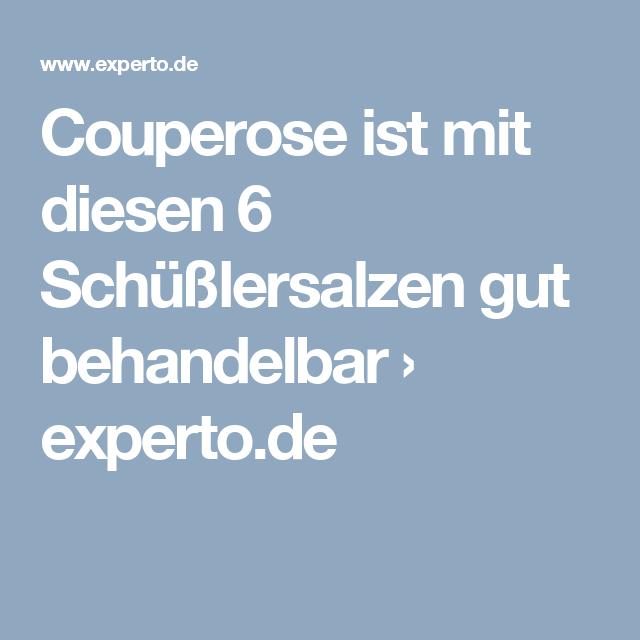 Salze bei couperose schüssler Couperose