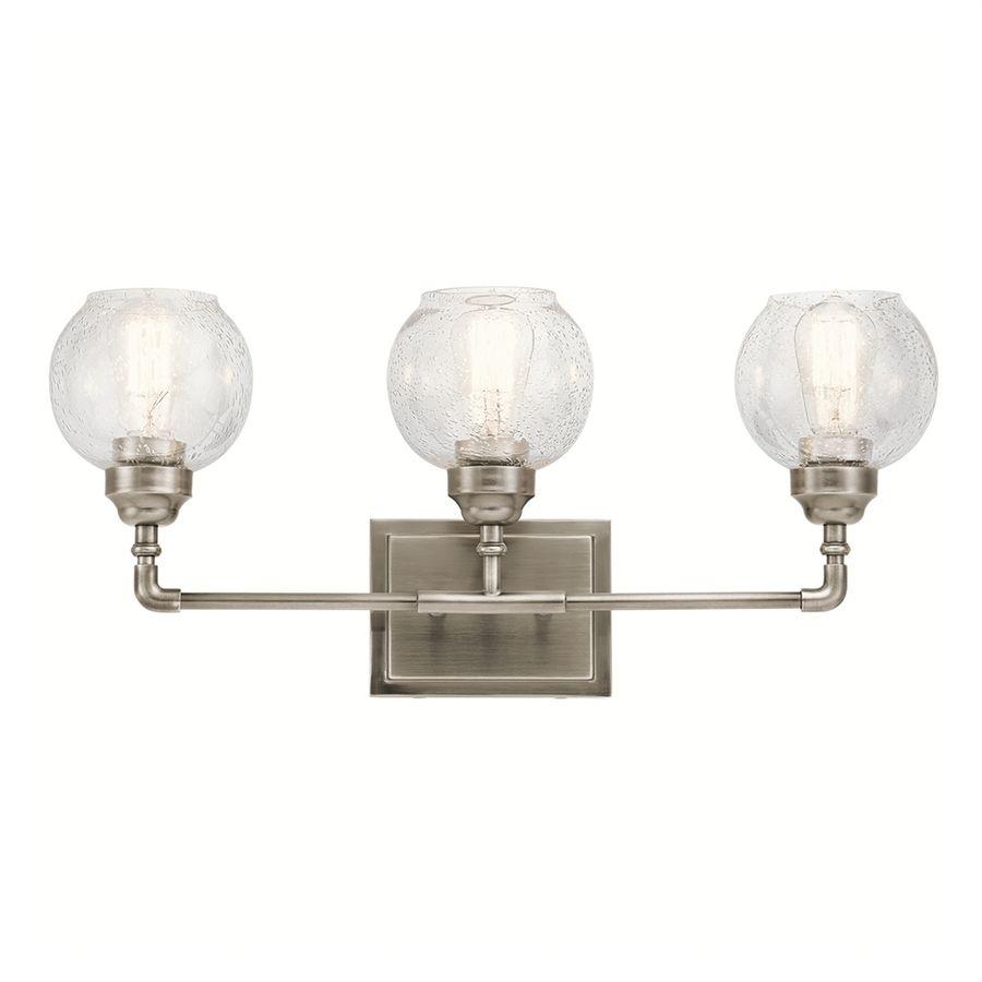 kichler niles 3 light 10 75 in antique pewter globe vanity light bar