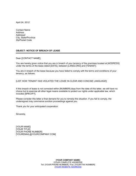 Breaking Lease Letter Check More At Https Nationalgriefawarenessday Com 22915 Breaking Lease Letter