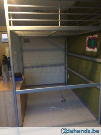 Stapelbed Metaal Ikea.Hoogslaper Twijfelaar Bed Ikea 140x200cm Oppimpkamer In 2019 Bed