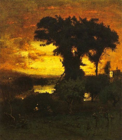George Inness, Afterglow on ArtStack #george-inness #art