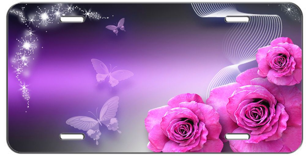 Detalles acerca de Placa Personalizada Rosas y Mariposas Etiqueta De ...