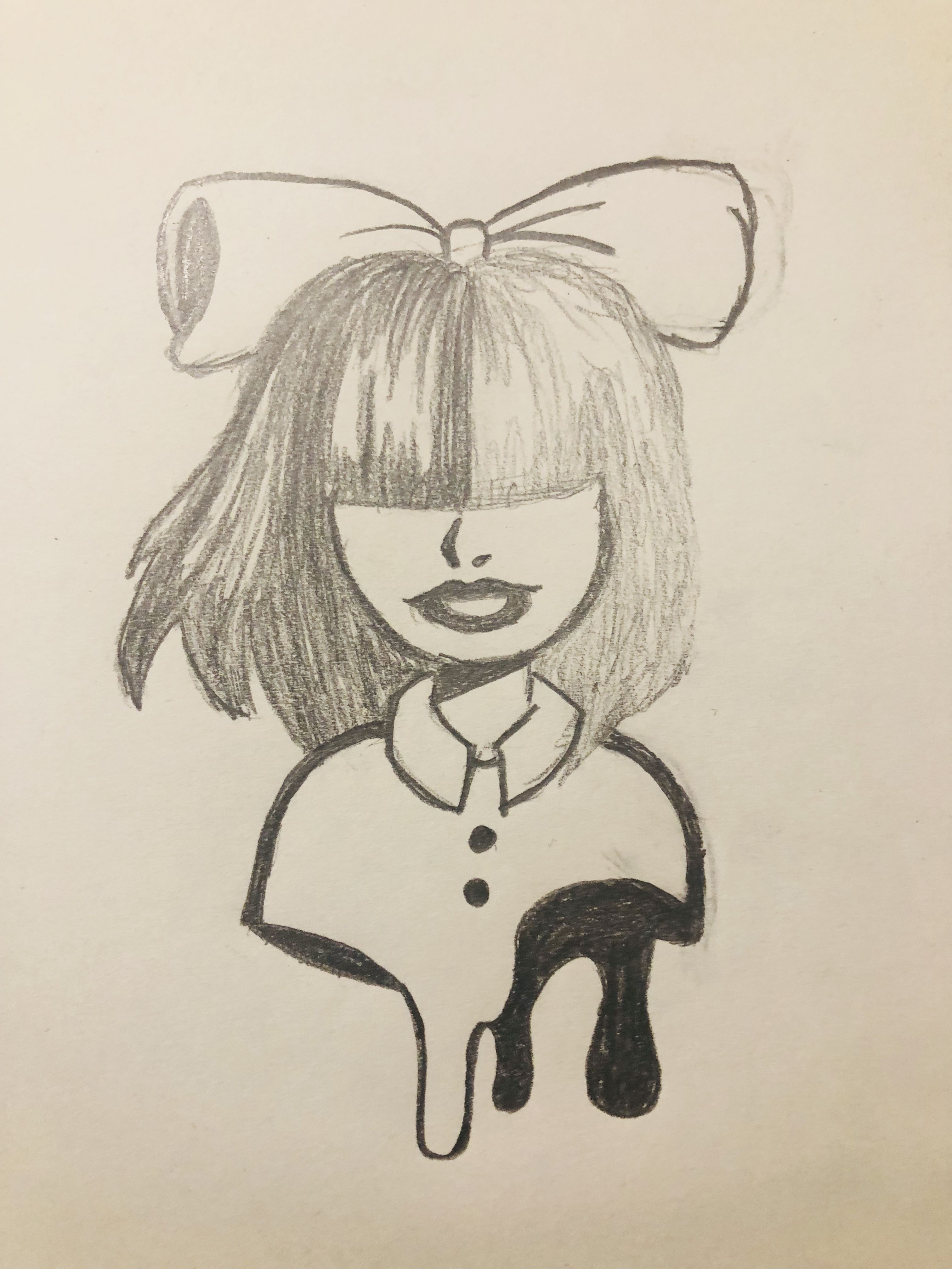 A Drawing Of The Amazing Sia Art Drawings Cute Drawings