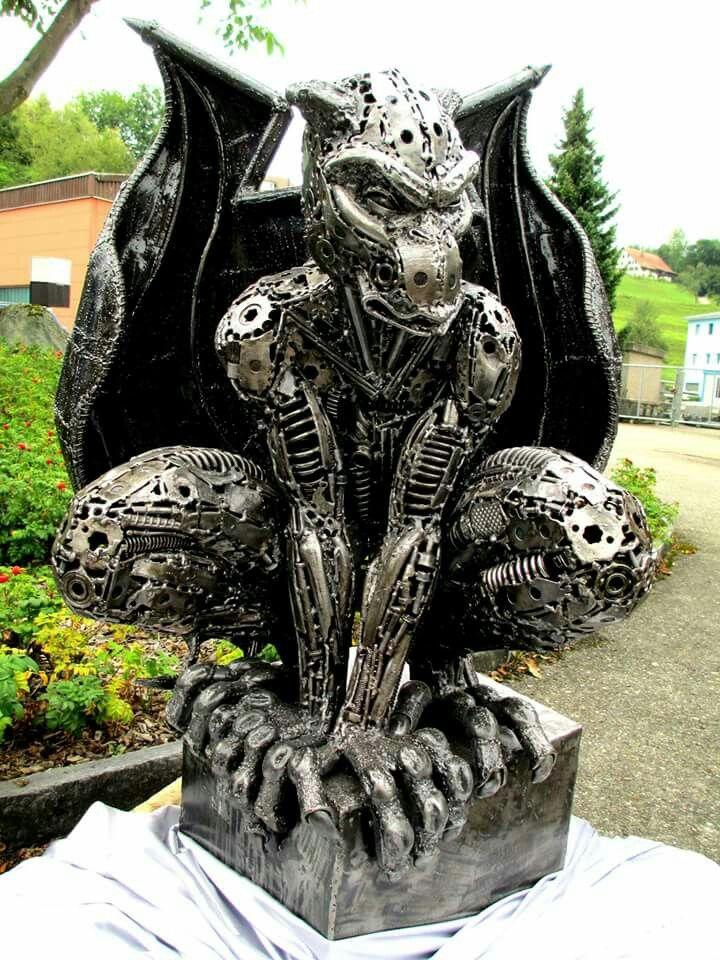 Image result for metal gargoyle