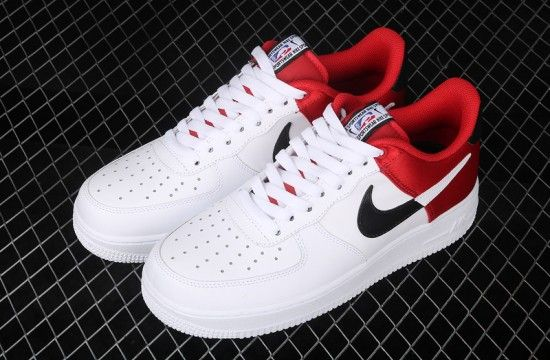 Nike Air Force 1 07 LV8 NBA White Red BQ4420 600 in 2020