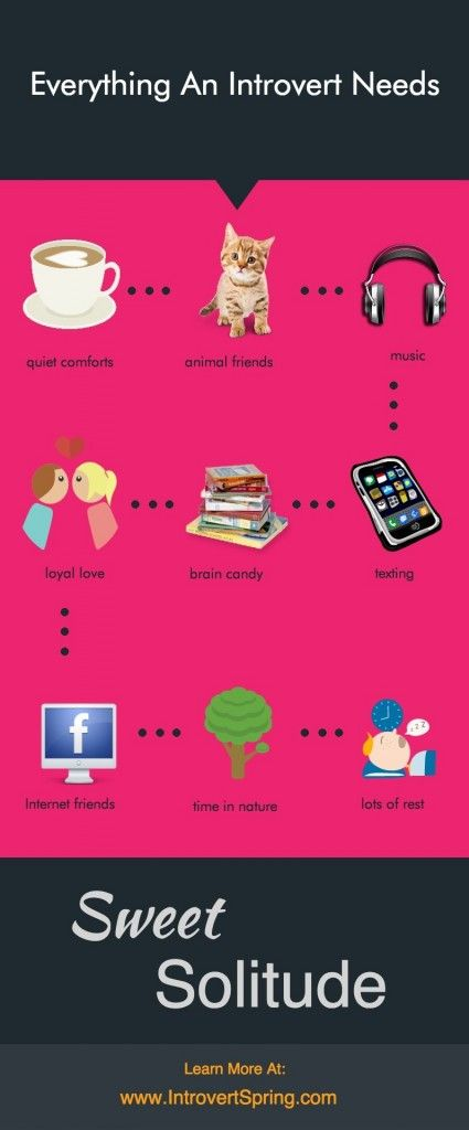 Everything An Introvert Needs Infographic - Introvert Spring