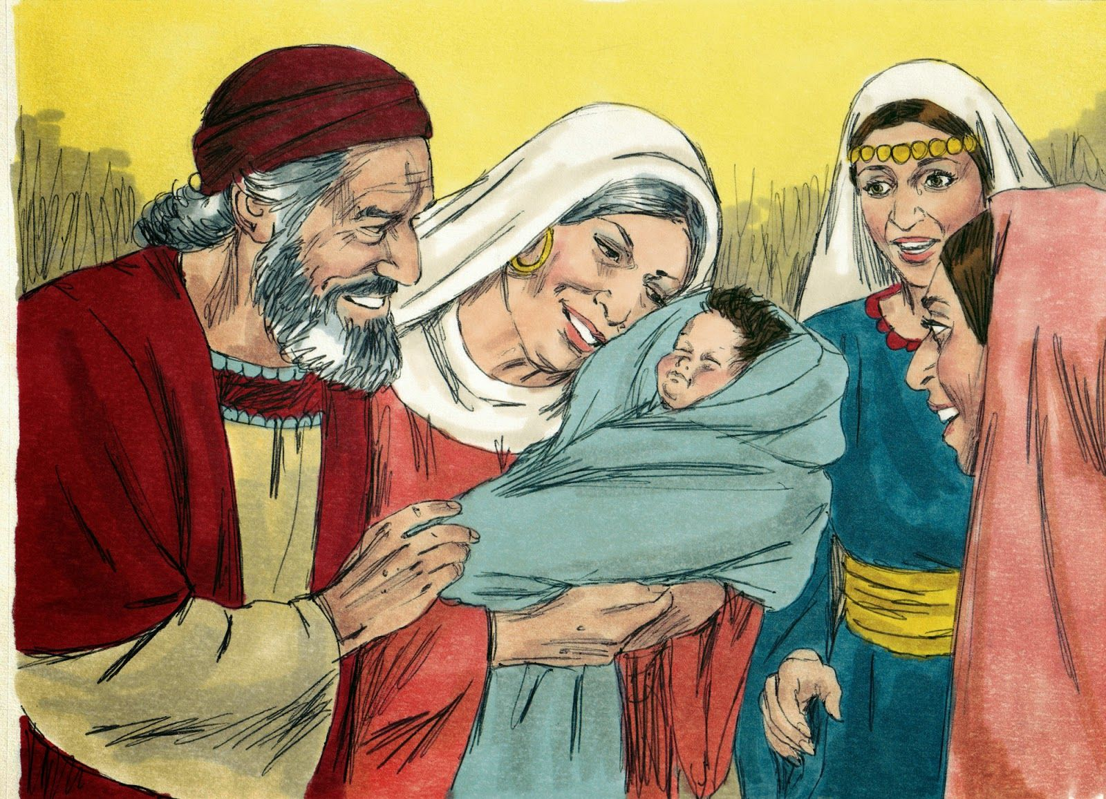 Coloring pages zacharias elizabeth - Birth Of John The Baptist