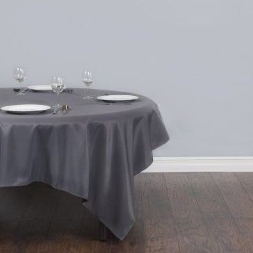 Charcoal Square Polyester Tablecloths