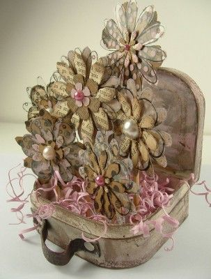 A Suitcase Full Of Flowers Chipboard A Tutorial Flowers