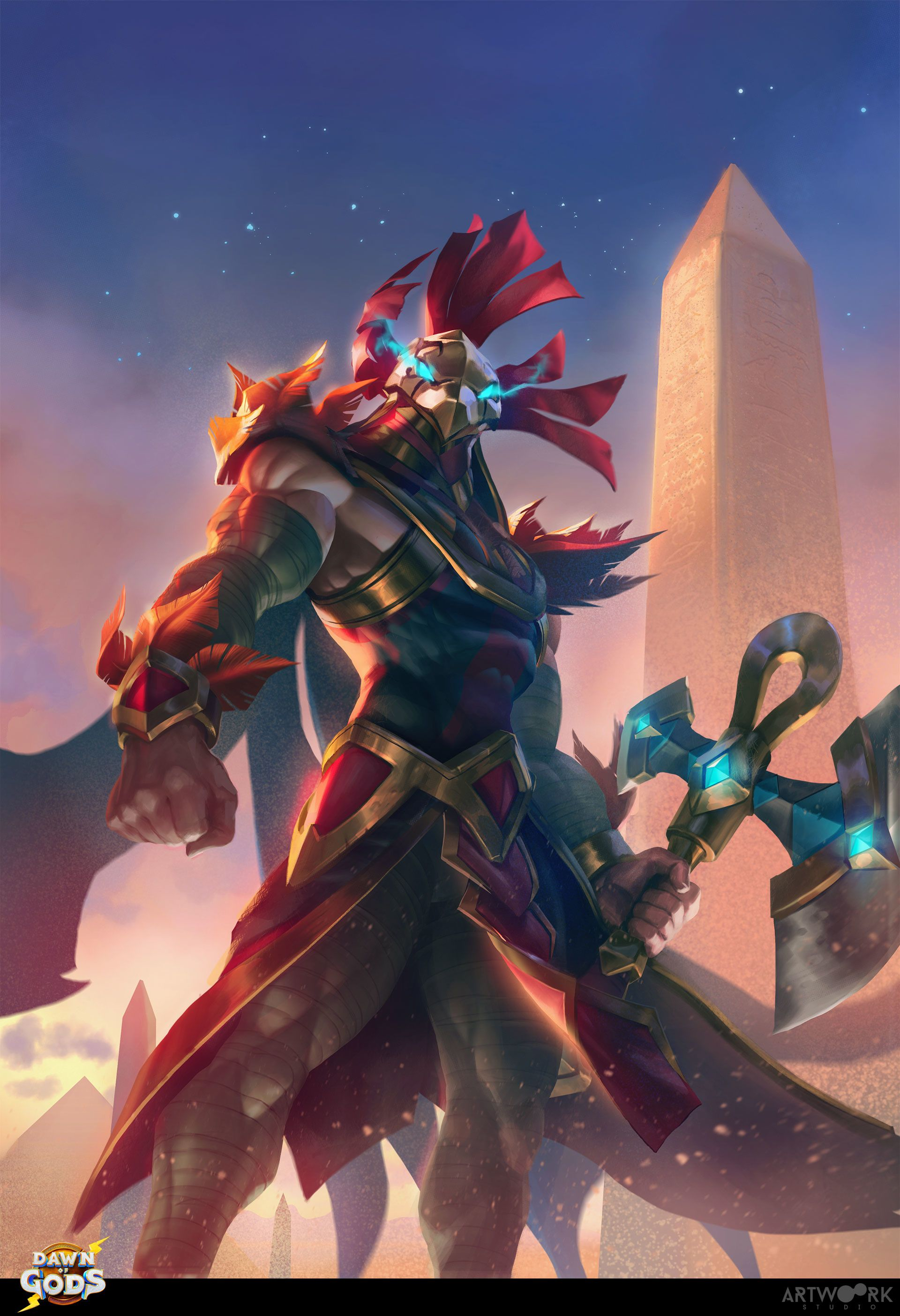 Artwoork created over 40 card art illustrations for the