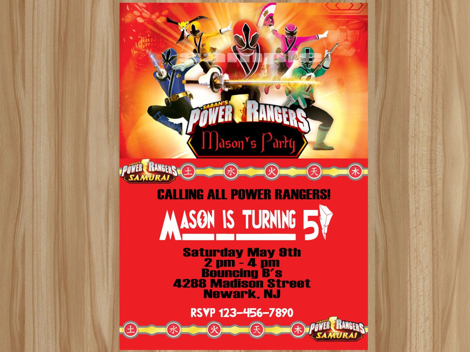 Awesome Power Ranger Birthday Invitations Free Printable