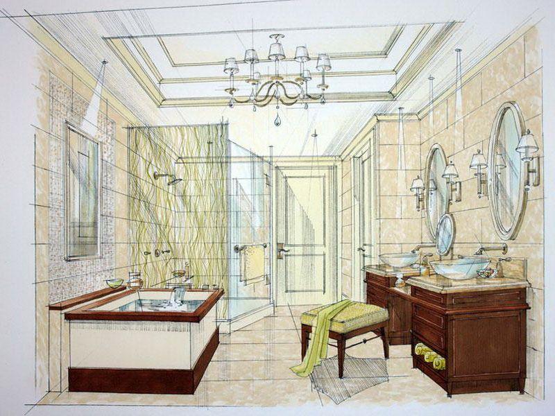 master bathroom layout plan with bathtub and walk in
