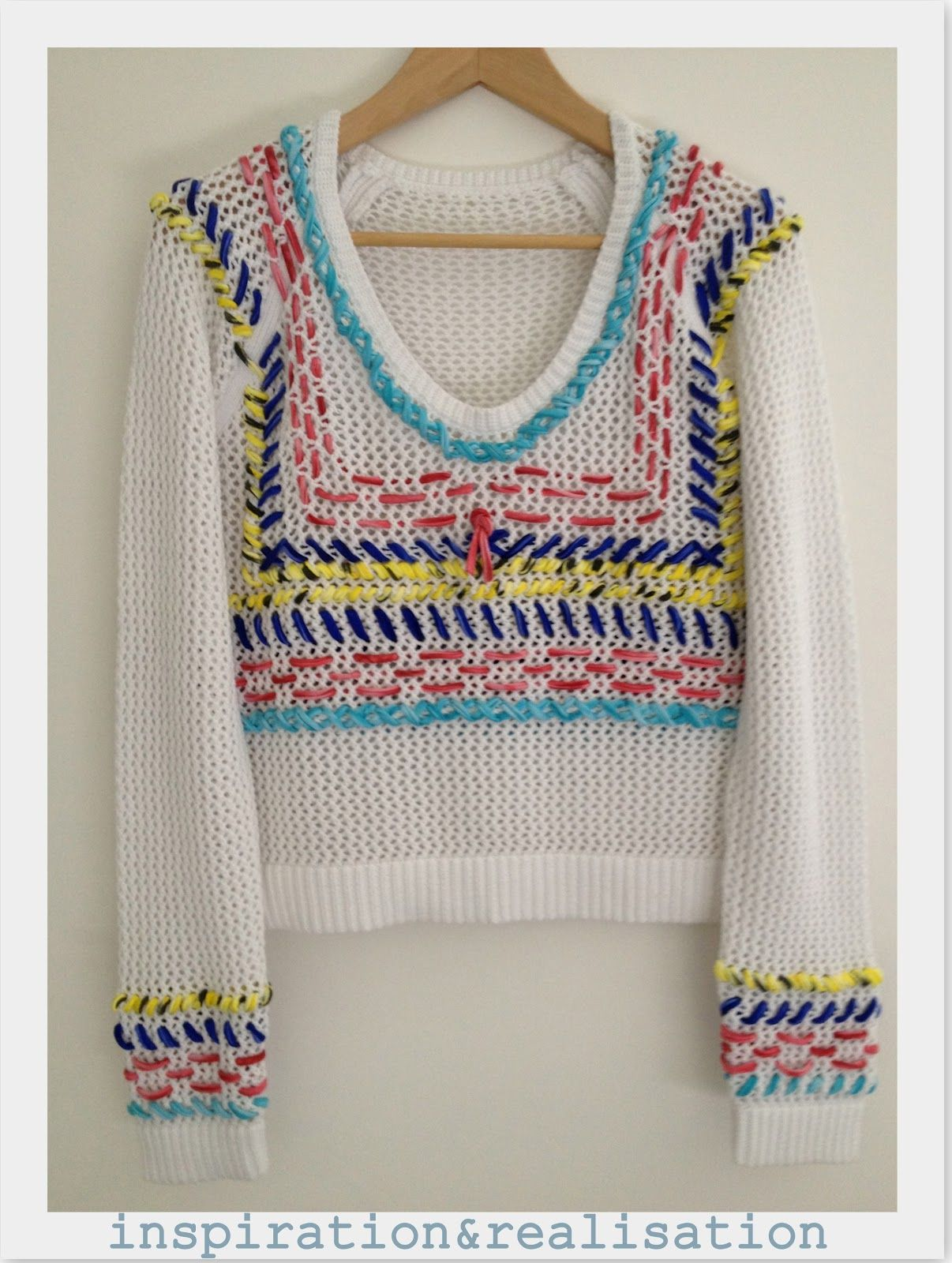 sweater bordado Labores 42f211e907f