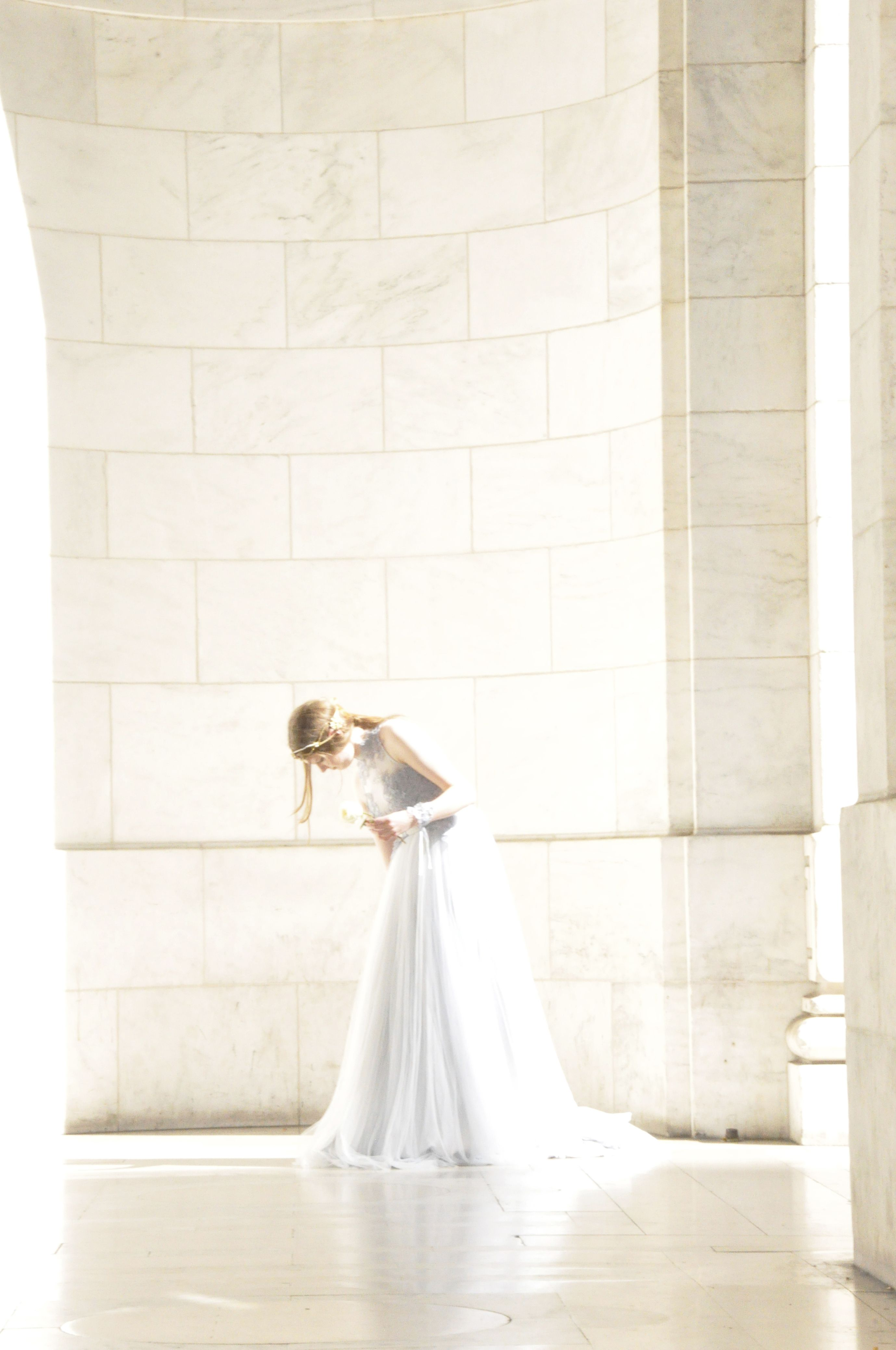 Filipino wedding dress  Our model Molly Harris in the Hepburn Gown from When Freddie Met