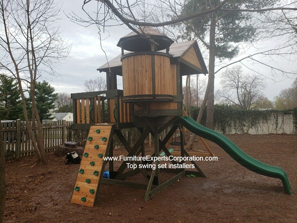 Backyard Discovery Eagle's Nest Elite Playset installers