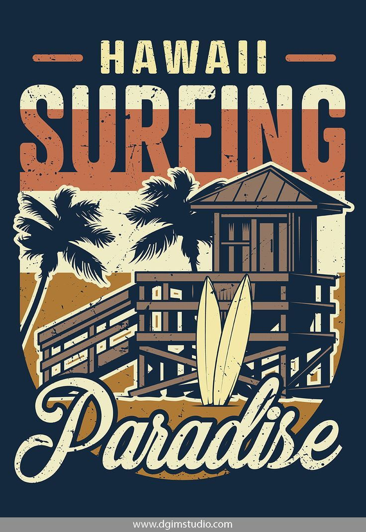 Vintage Surfing Emblems in 2020 Vintage surf, Vintage