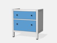 Blau 3 für Hemnes Waschbeckenschrank 2 Schubladen - Front Bild 1