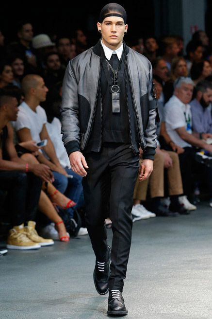Menswear trend: Updated bomber jackets. Seen here at Givenchy.