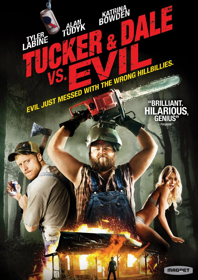 Tucker Dale Vs Evil Seriously This Movie Is Epicly Hilarious Watch It Tucker And Dale Vs Evil Horror Movies On Netflix Good Movies