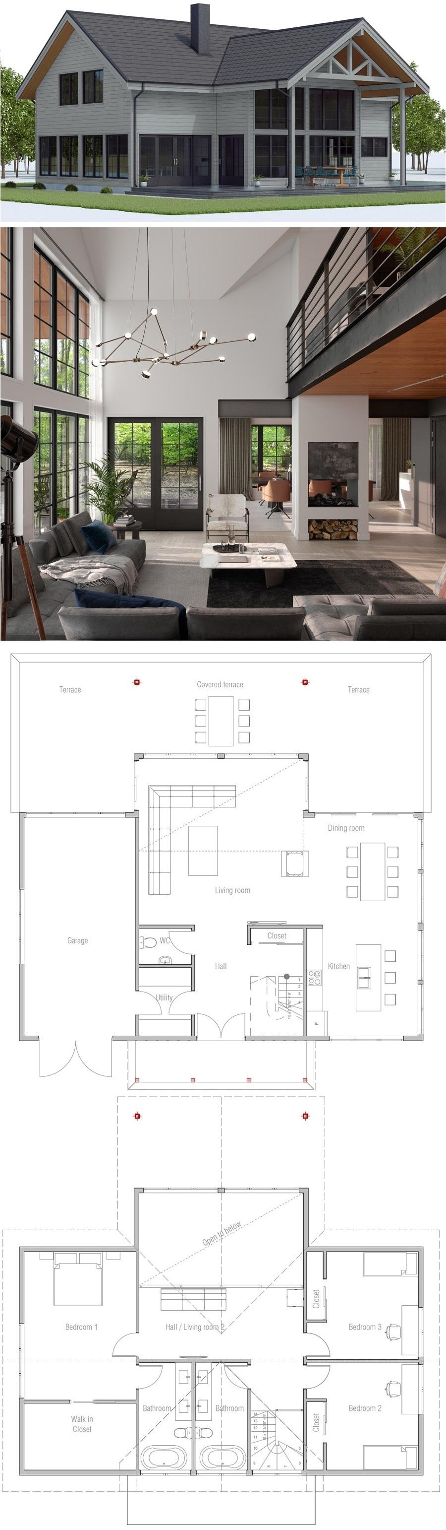 House Plan CH549 #arquitectonico