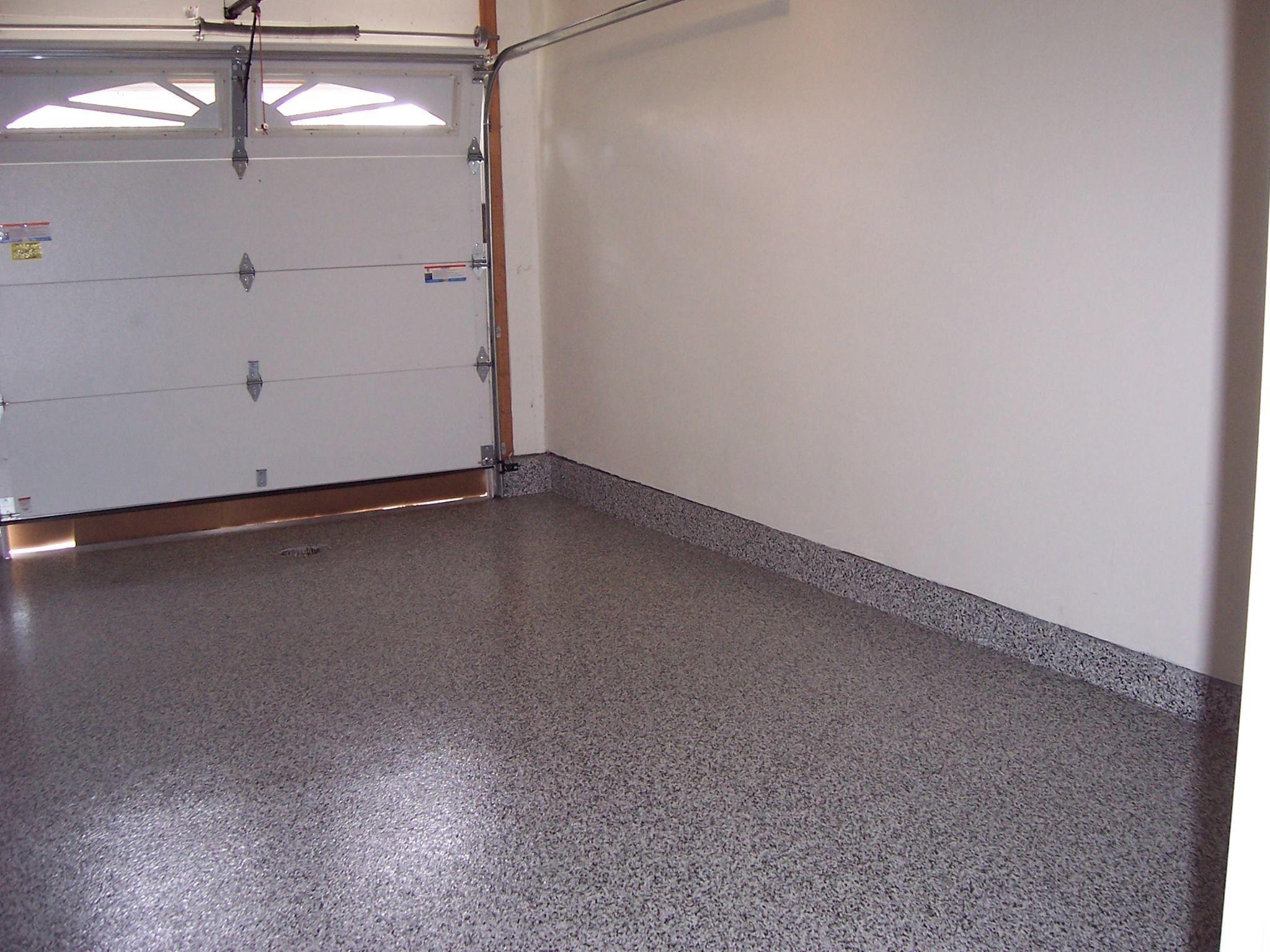 Graphite 1 4 Polyaspartic Floor With Stem Walls Polyaspartic Flooring Flake Floor Garage Graphite Flooring Interior Shutters Custom Closets