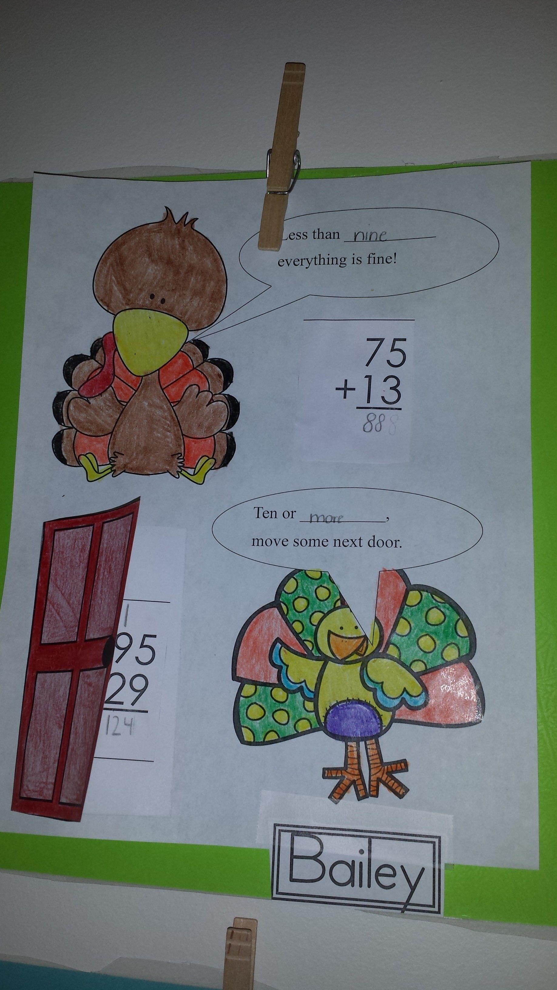 Regrouping Thanksgiving Craftivity