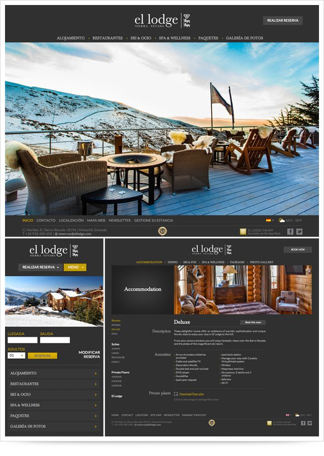 """El Lodge"" responsive website"