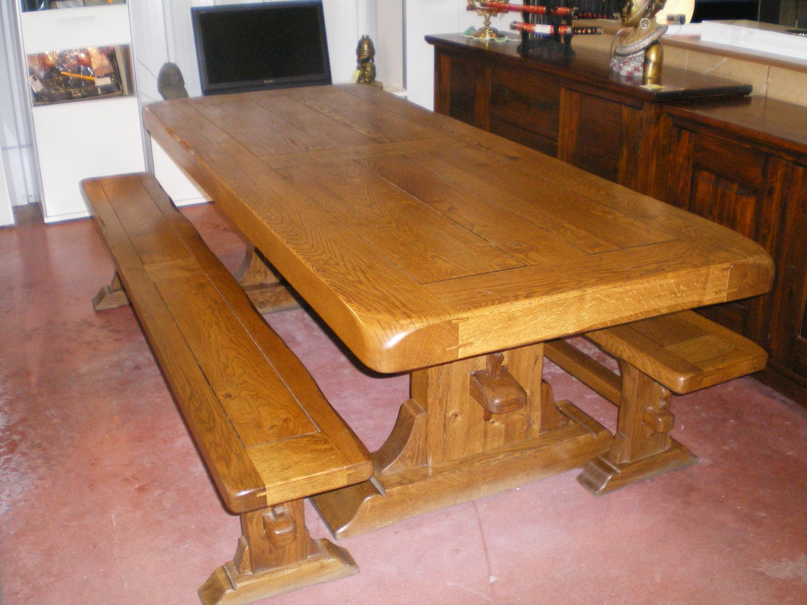 Table Bancs Monastere Table Table Banc Table Salle A Manger