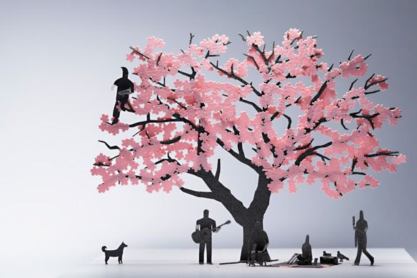 1 100 Architectural Model Accessories Series No 11 Cherry Blossom I Want Paper Art Art Paper Crafts