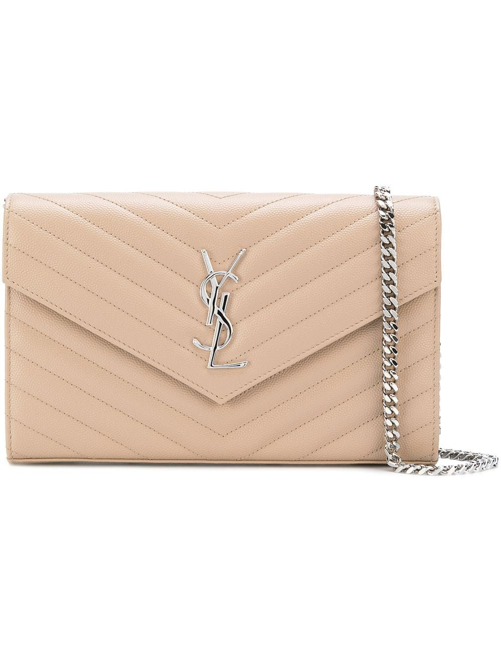 a24053f87e5 Saint Laurent Monogram chain wallet - Neutrals in 2019 | Products ...