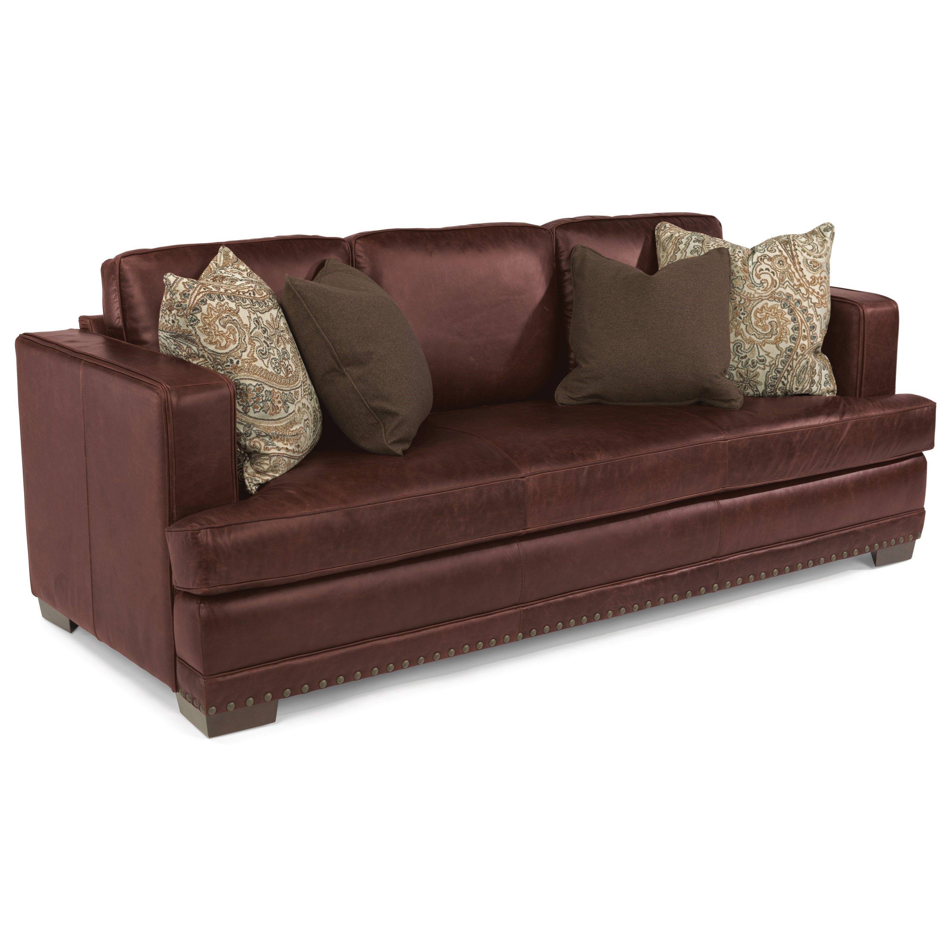 Latitudes-Fulbright Leather Sofa by Flexsteel   furniture   Sofa ...