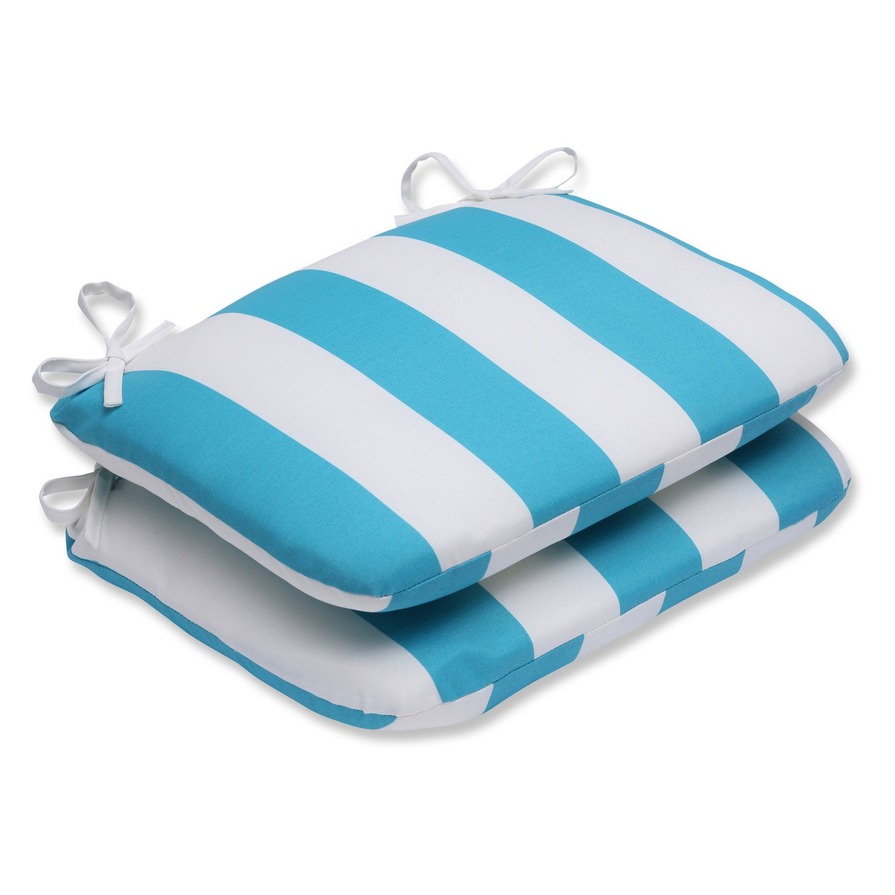 Pillow perfect cabana turquoise stripe rounded corners x