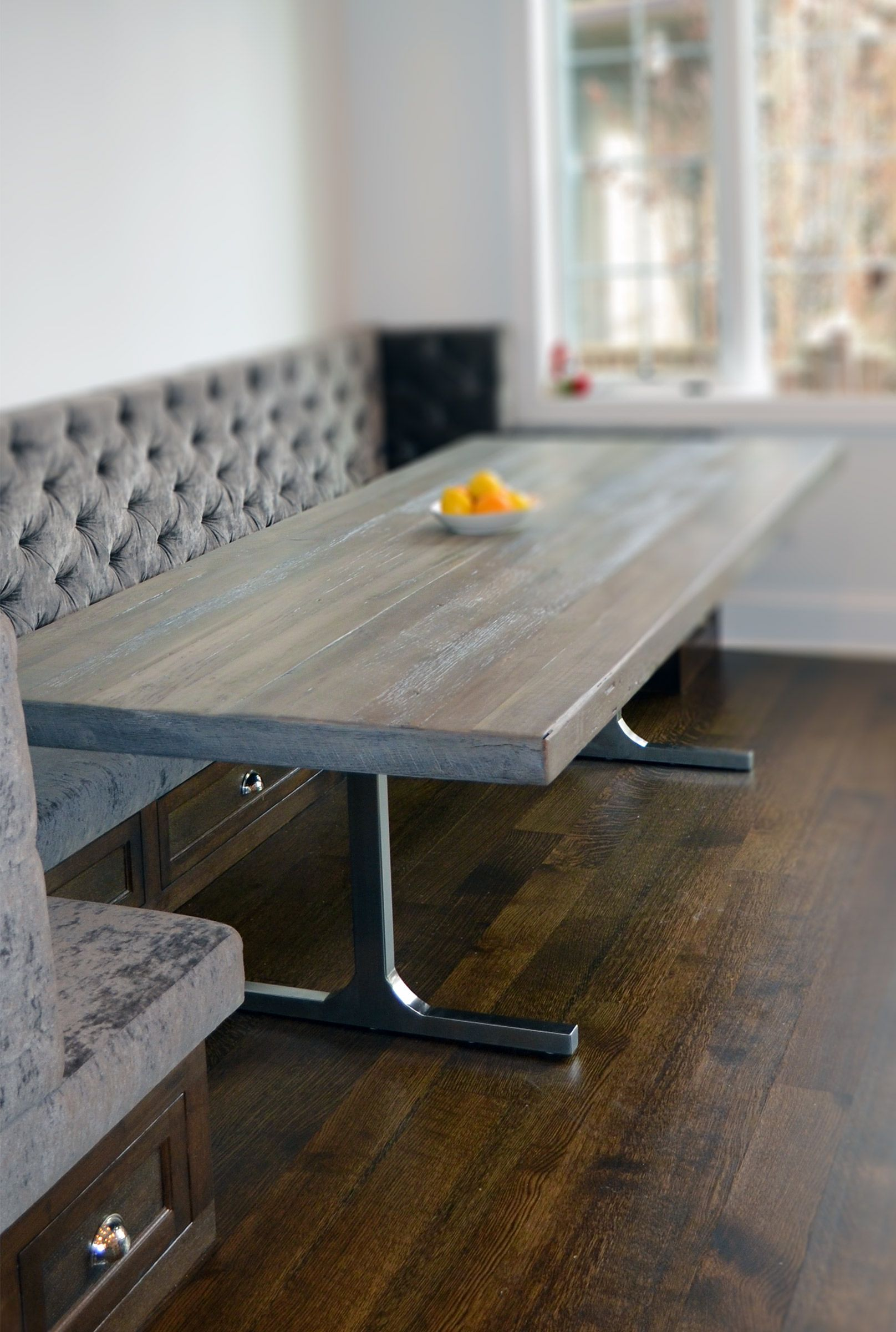 50 Shades Of Grey Reclaimed Wood Rustic Modern Dining Table Now Available At Www