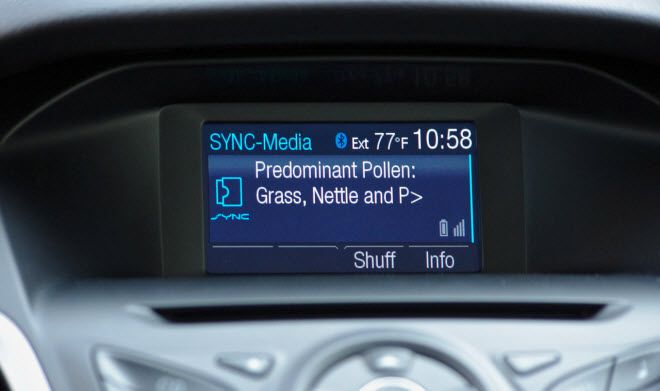 Ford Sync Warns Drivers Of Pollen Counts Other Health Risks Appar