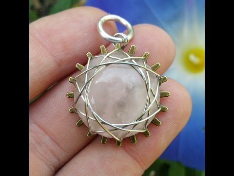 Sunsnowflake grooved cabochon wire wrap pendant tutorial youtube sunsnowflake grooved cabochon wire wrap pendant tutorial youtube mozeypictures Choice Image