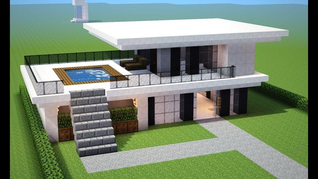 Minecraft Tutorial Como Fazer Uma Casa Moderna Para Sua Cidade