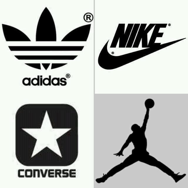 adidas nike converse and jordan logos brands pinterest